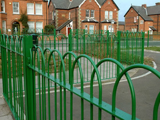 Bow Top Railing System Supplied With Fence Posts And Panels